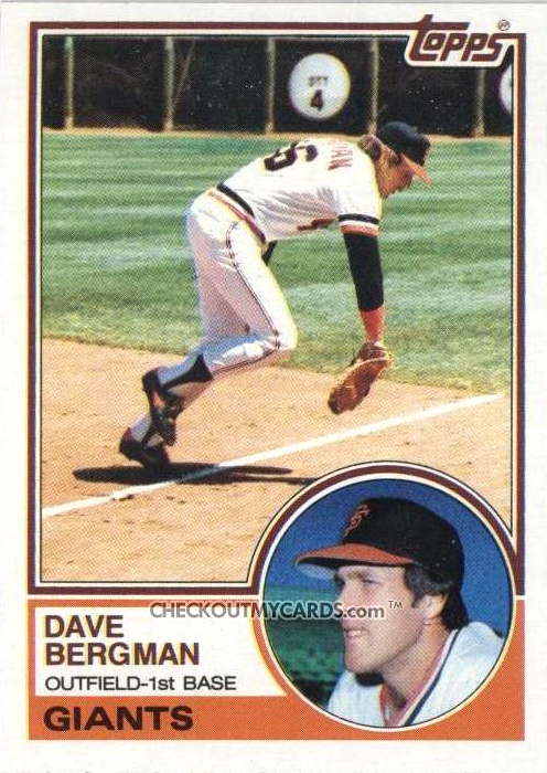 Card Of The Week 1983 Topps 32 Dave Bergman Baseball Reference