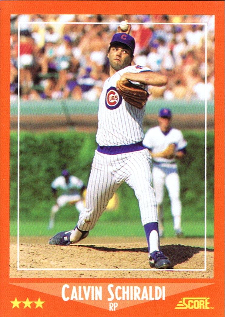 Card Of The Week 1988 Score Rookie Traded 39t Calvin Schiraldi