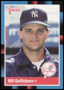 1988 Donruss #586 Bill Gullickson