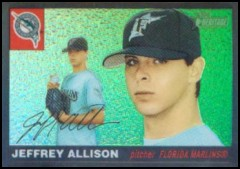 2004 Topps Heritage Black Chrome Refractor #84 Jeff Allison