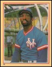 1984 Fleer Stickers #91 Mookie Wilson