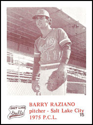 1975 Salt Lake Gulls #15 Barry Raziano