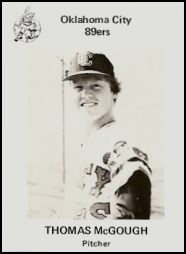 1975 Oklahoma City 89ers Team Issue #3 Tom McGough