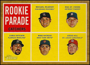 2011 Topps Heritage #496 Michael McKenry/Max St. Pierre/Chris Hatcher/Mike Nickeas/Steve Hill