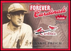 2004 Fleer Greats Forever Cardinals #F27 Frankie Frisch