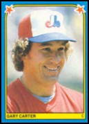 1983 Fleer Star Stickers #262 Gary Carter