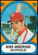 snipped from 1972 Topps #14 Phillies Rookies (w/Mike Anderson)