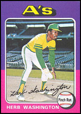 1975 Topps #407 Herb Washington