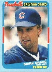 1989 Fleer Exciting Stars #17 Mark Grace
