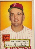 Jim Konstanty's card from the 1952 set