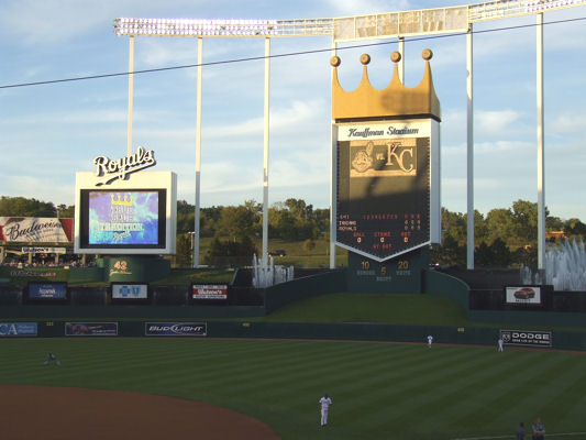 Photo of Kauffman Stadium taken in 2007