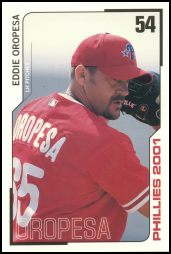 2001 Phillies Team Issue #54 Eddie Oropesa