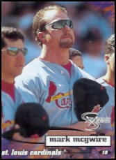 1998 SkyBox Dugout Axcess #41 Mark McGwire
