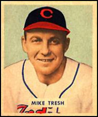 1949 Bowman #166 Mike Tresh