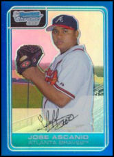 2006 Bowman Chrome Blue Refractor #BC208 Jose Ascanio