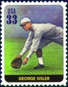U.S. postage stamp depicting George Sisler.