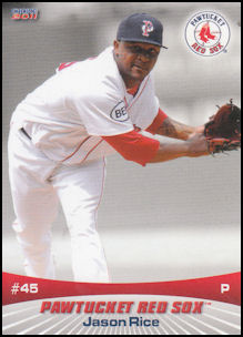 2011 Choice Pawtucket Red Sox #45 Jason Rice
