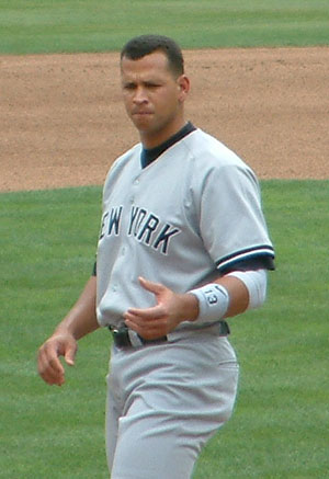 Alex Rodriguez, NYY uniform walking.jpg