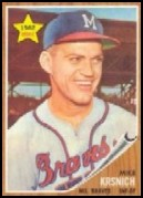 1962 Topps #289 Mike Krsnich