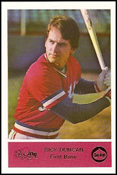 1979 Nashville Sounds Majik 93/Sun Drop Rick Duncan
