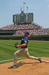 20070616 Chris Young visits Wrigley.jpg