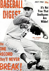 Baseball Digest July 1963 front cover Jim Otoole.jpg