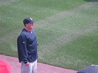John Lackey During Warm-Ups - Red Sox at Nationals (EXHIBITION) 3 April 2010-6907.jpg