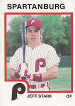 1987 ProCards Spartanburg Phillies #1793 Jeff Stark