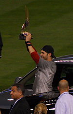 Holding the WS MVP Trophy Mike Lowell-2936.jpg