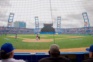 Cuban National Baseball Team Pitcher Throws Pitch at Exhibition Game Attended by U.S. President Obama, Secretary Kerry in Havana, Cuba.jpg