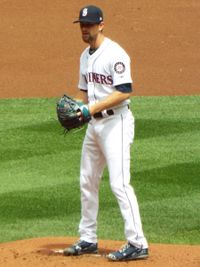 Mike Leake with the Mariners, 2018